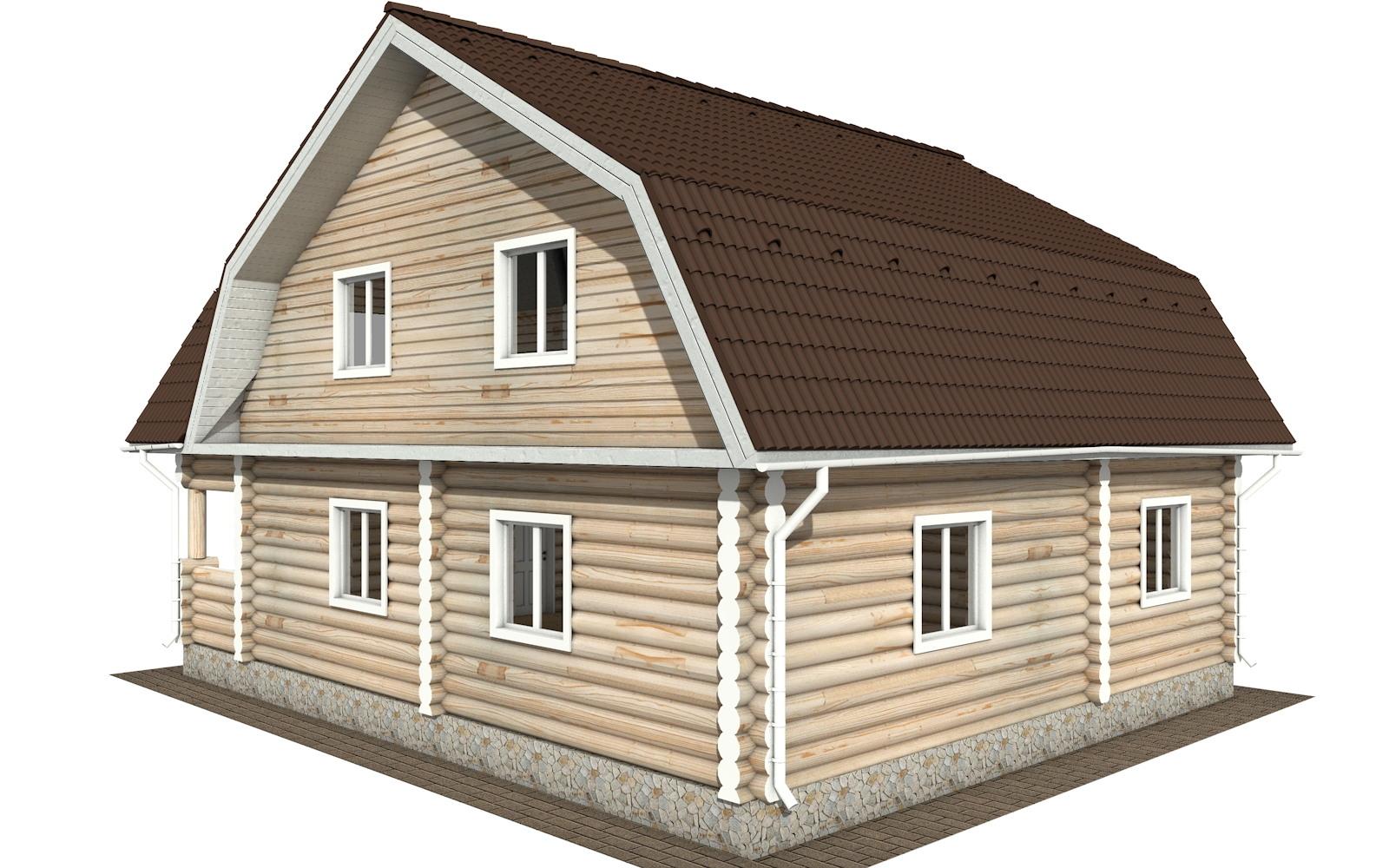 Фото #3: Красивый деревянный дом РС-115 из бревна