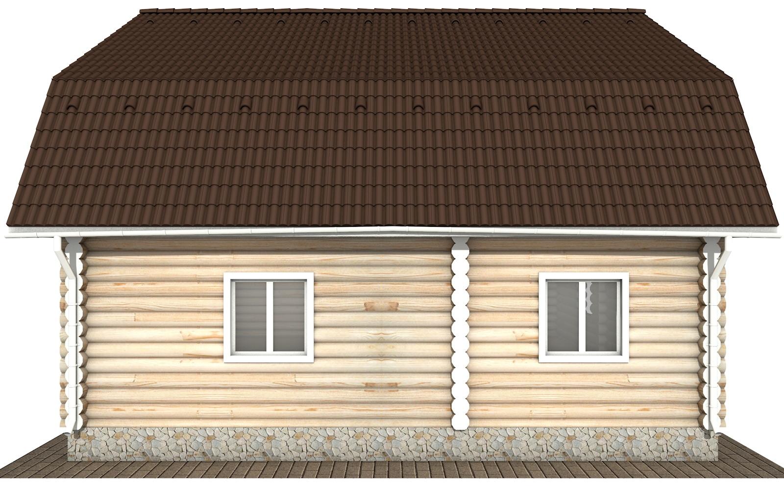 Фото #8: Красивый деревянный дом РС-115 из бревна
