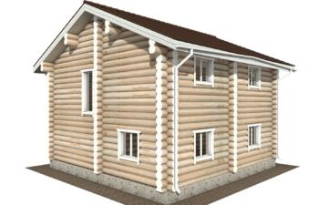 Фото #3: Красивый деревянный дом РС-116 из бревна