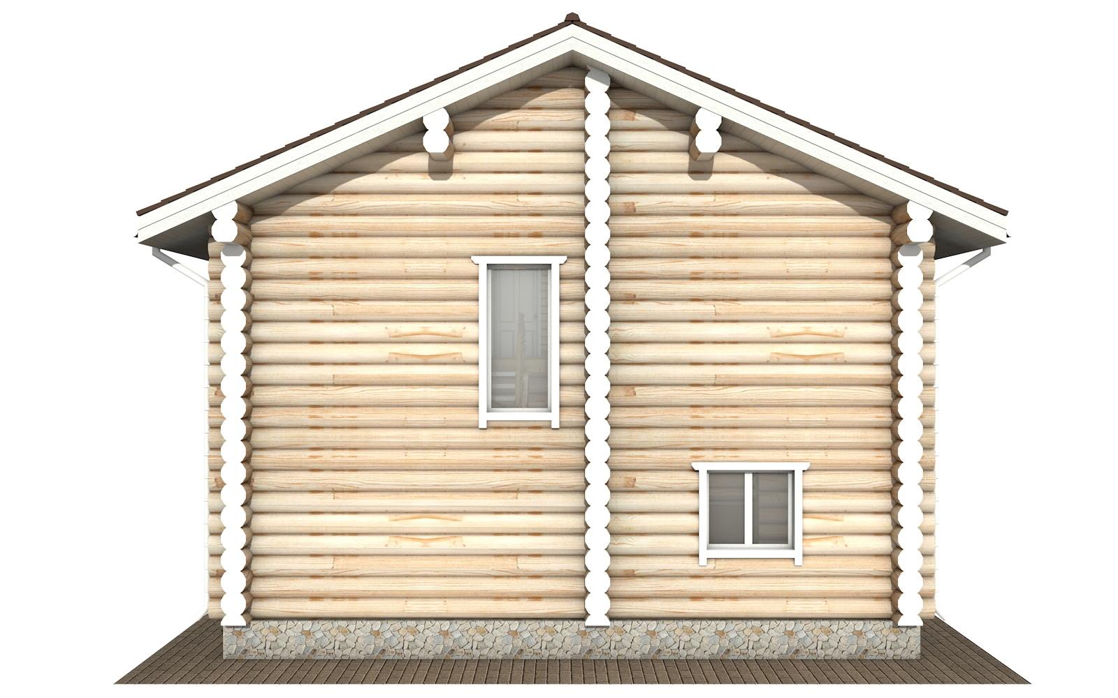 Фото #8: Красивый деревянный дом РС-116 из бревна