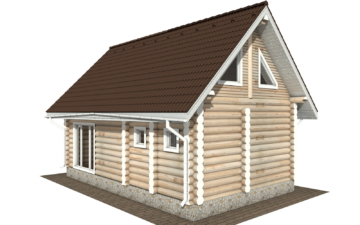 Фото #6: Красивый деревянный дом РС-117 из бревна