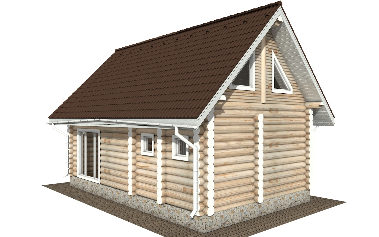 Фото #5: Красивый деревянный дом РС-117 из бревна