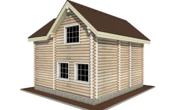 Фото #6: Красивый деревянный дом РС-2 из бревна