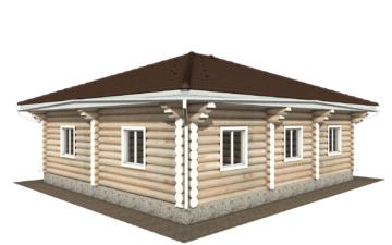 Фото #3: Красивый деревянный дом РС-118 из бревна