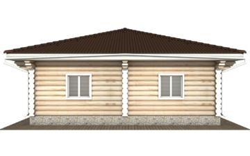 Фото #9: Красивый деревянный дом РС-118 из бревна