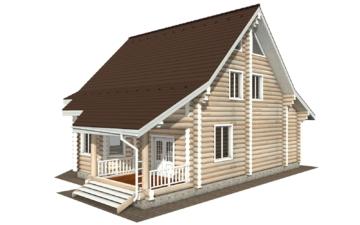 Фото #6: Красивый деревянный дом РС-119 из бревна
