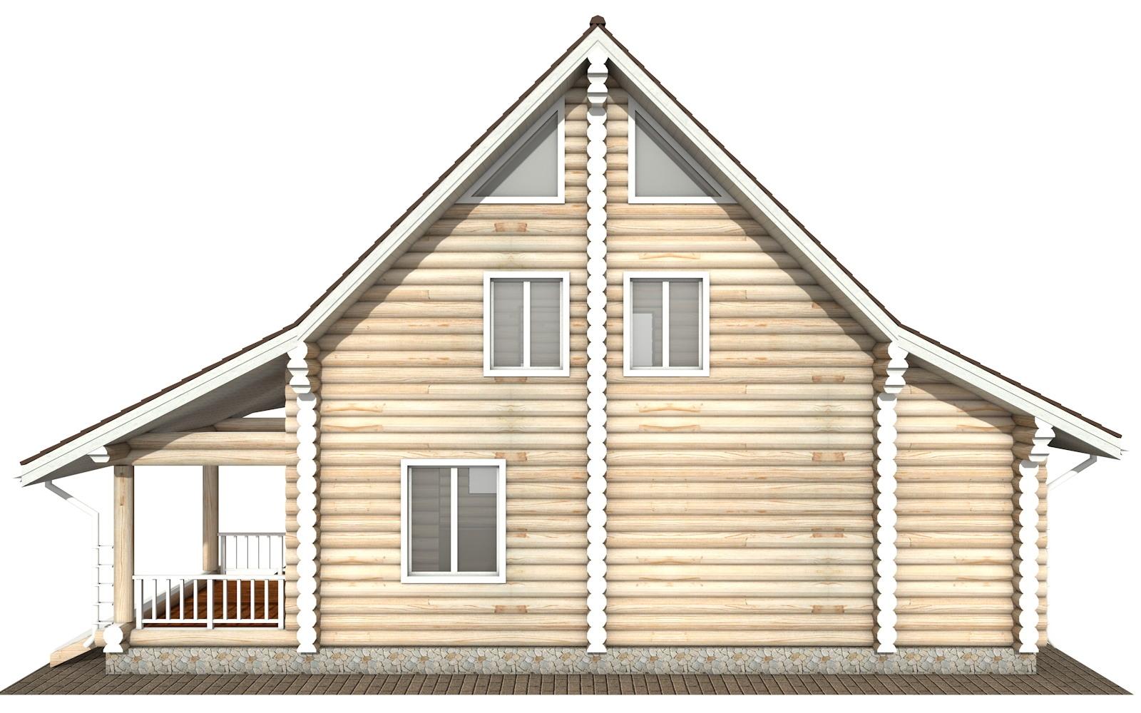 Фото #8: Красивый деревянный дом РС-119 из бревна