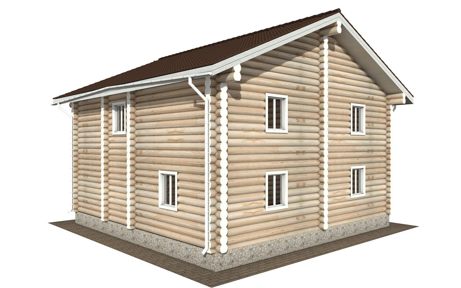 Фото #3: Красивый деревянный дом РС-120 из бревна