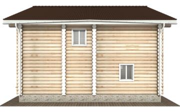 Фото #9: Красивый деревянный дом РС-120 из бревна