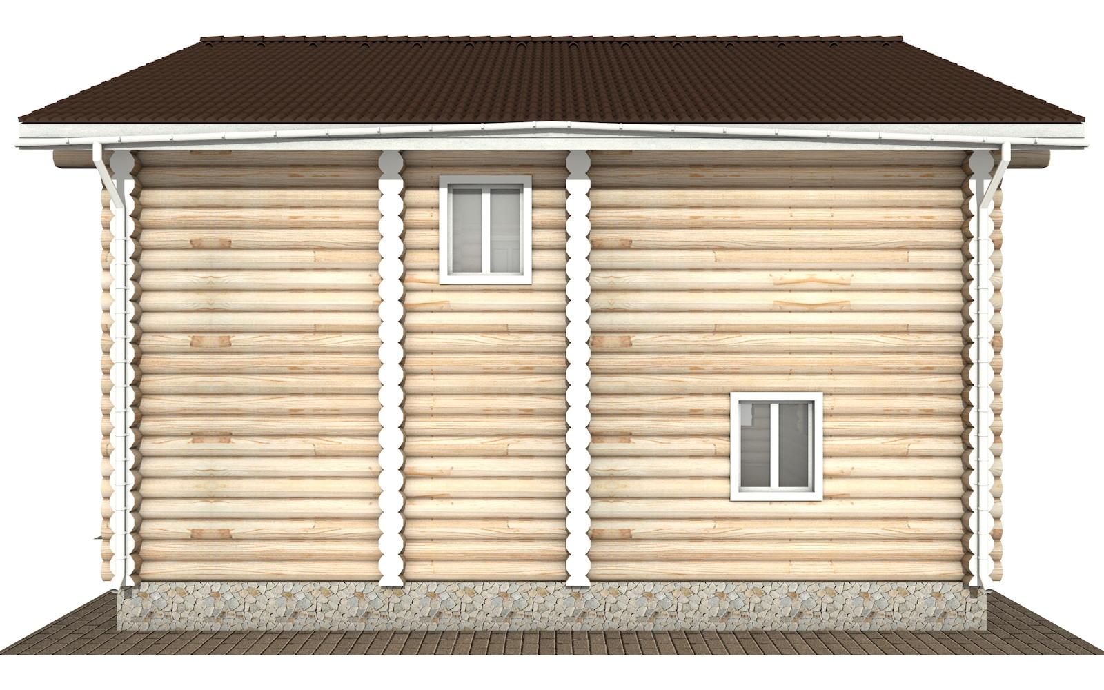 Фото #8: Красивый деревянный дом РС-120 из бревна