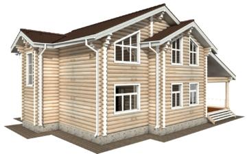 Фото #3: Красивый деревянный дом РС-121 из бревна