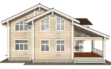 Фото #9: Красивый деревянный дом РС-121 из бревна