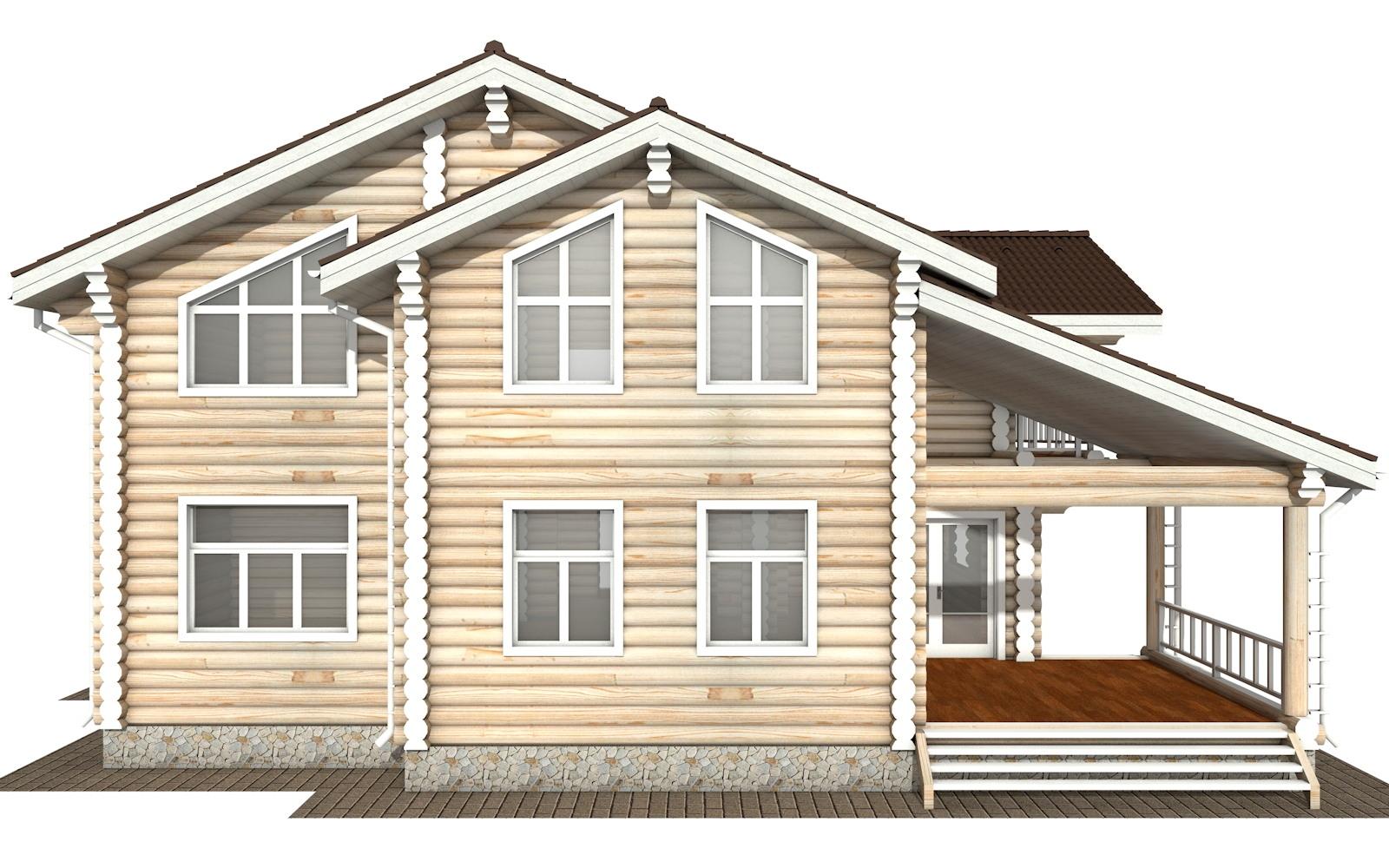Фото #8: Красивый деревянный дом РС-121 из бревна