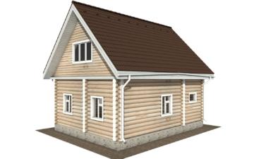 Фото #3: Красивый деревянный дом РС-123 из бревна