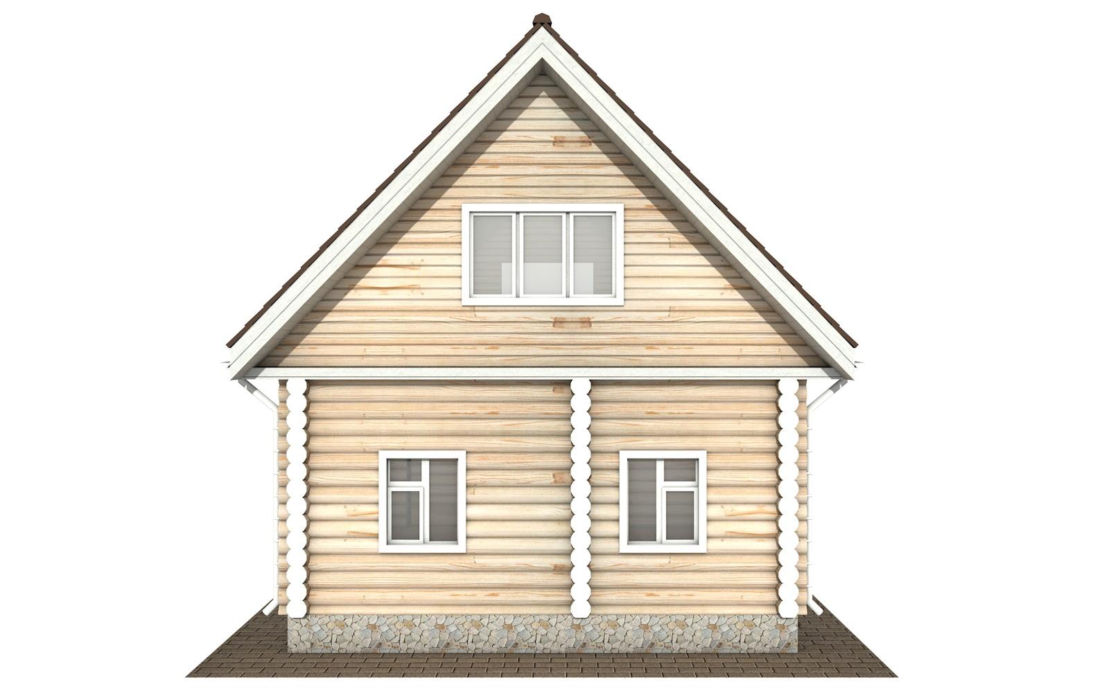 Фото #7: Красивый деревянный дом РС-123 из бревна