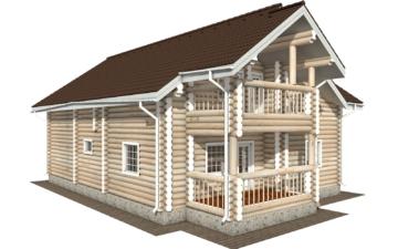 Фото #3: Красивый деревянный дом РС-125 из бревна