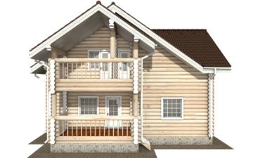 Фото #9: Красивый деревянный дом РС-125 из бревна