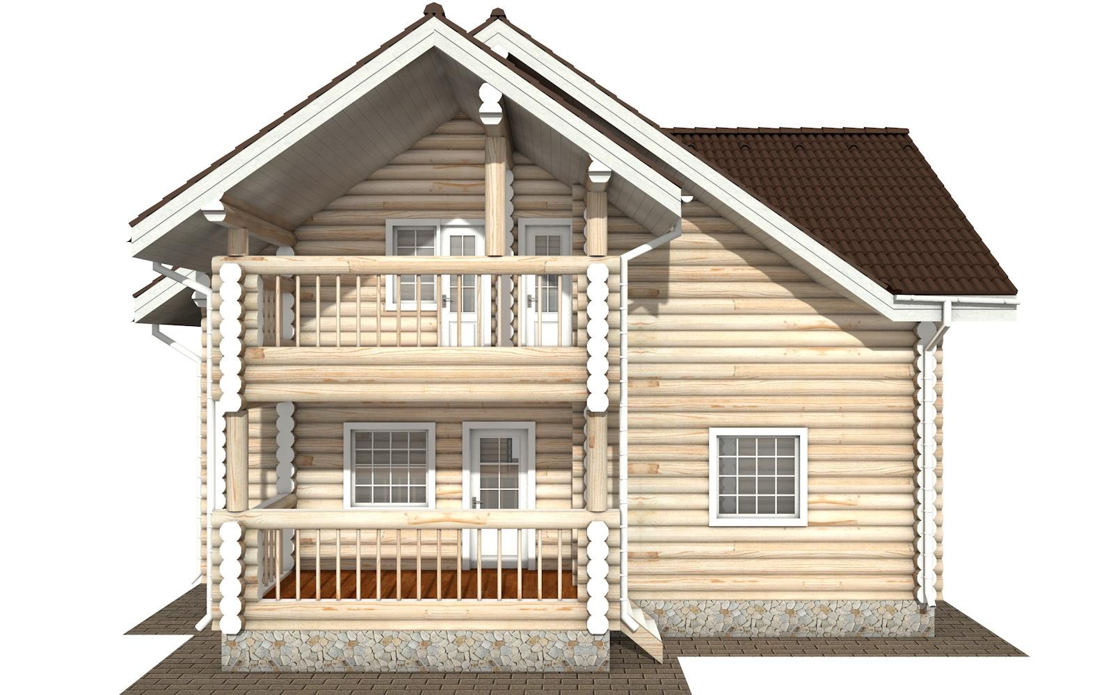 Фото #8: Красивый деревянный дом РС-125 из бревна
