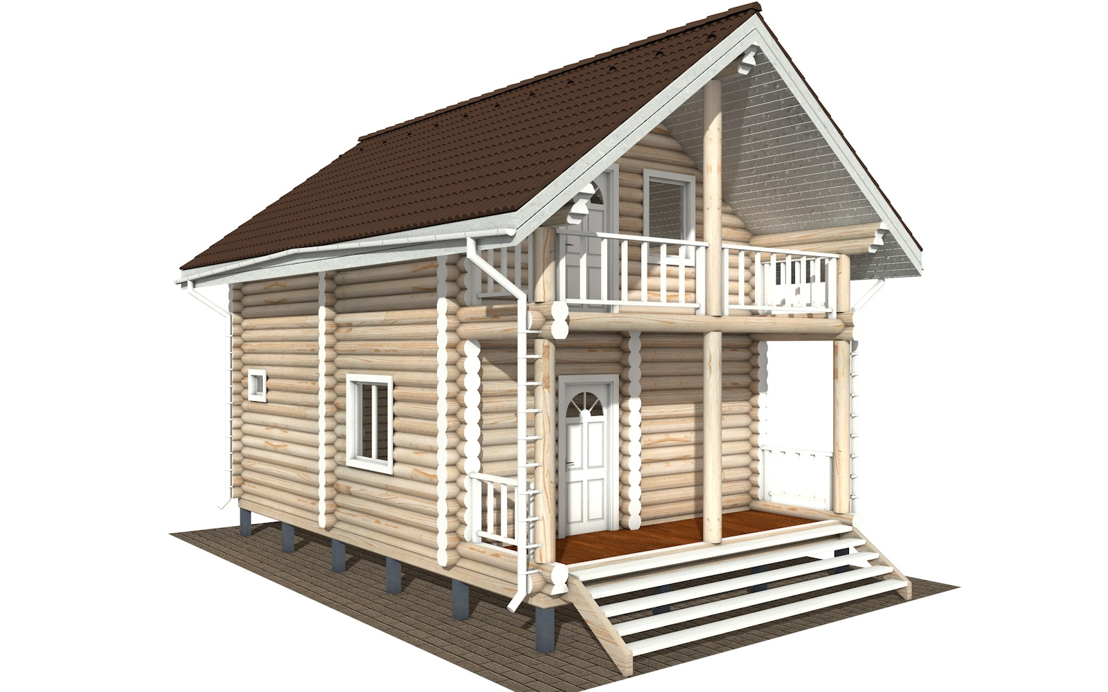 Фото #3: Красивый деревянный дом РС-126 из бревна