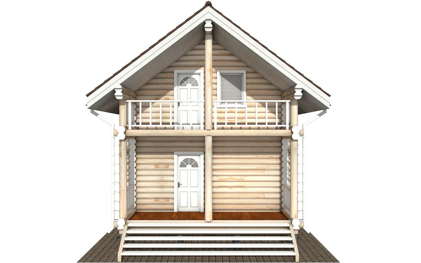 Фото #8: Красивый деревянный дом РС-126 из бревна