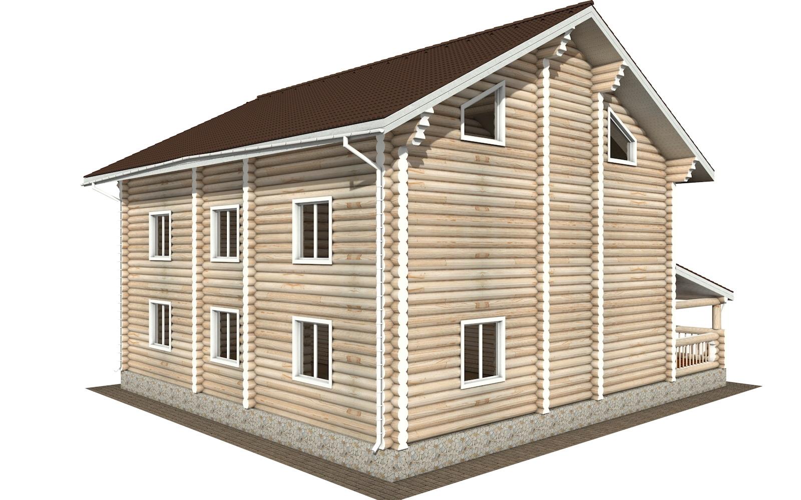 Фото #3: Красивый деревянный дом РС-127 из бревна