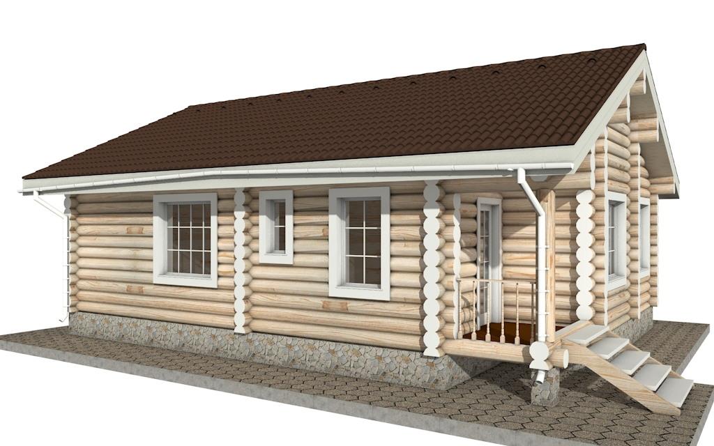 Фото #4: Красивый деревянный дом РС-12 из бревна
