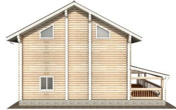 Фото #9: Красивый деревянный дом РС-127 из бревна