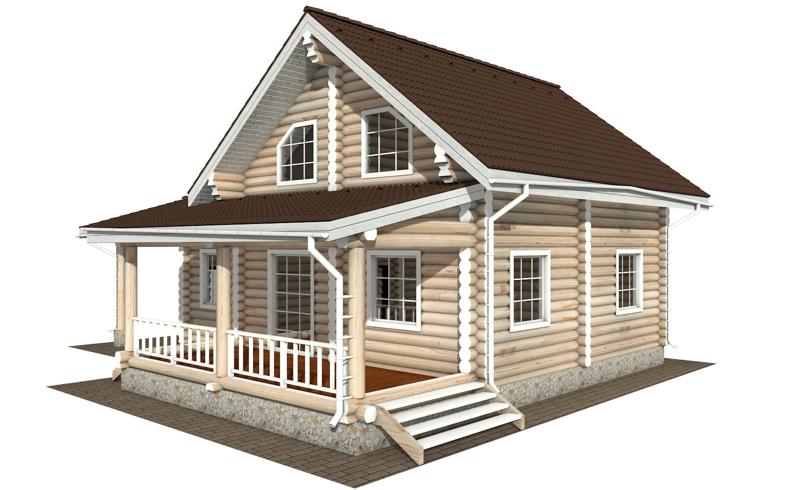 Фото #5: Красивый деревянный дом РС-128 из бревна