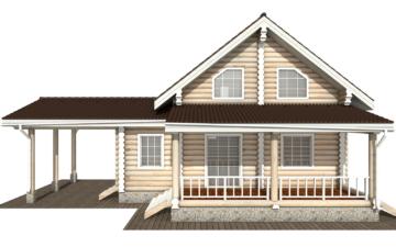 Фото #9: Красивый деревянный дом РС-128 из бревна