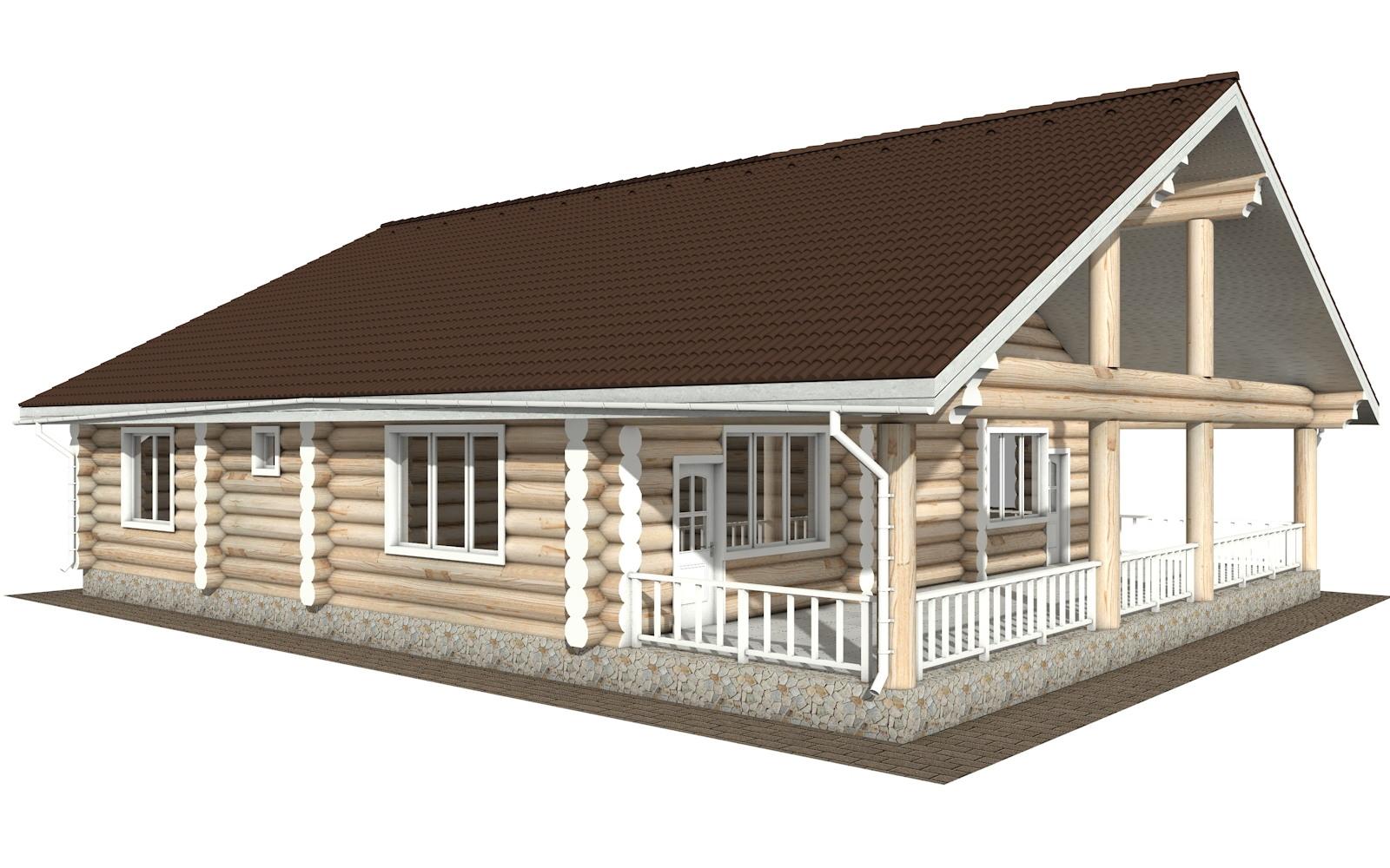 Фото #4: Красивый деревянный дом РС-129 из бревна