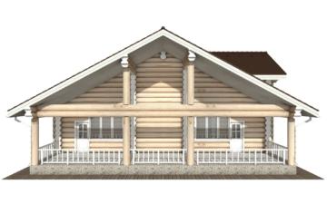 Фото #9: Красивый деревянный дом РС-129 из бревна
