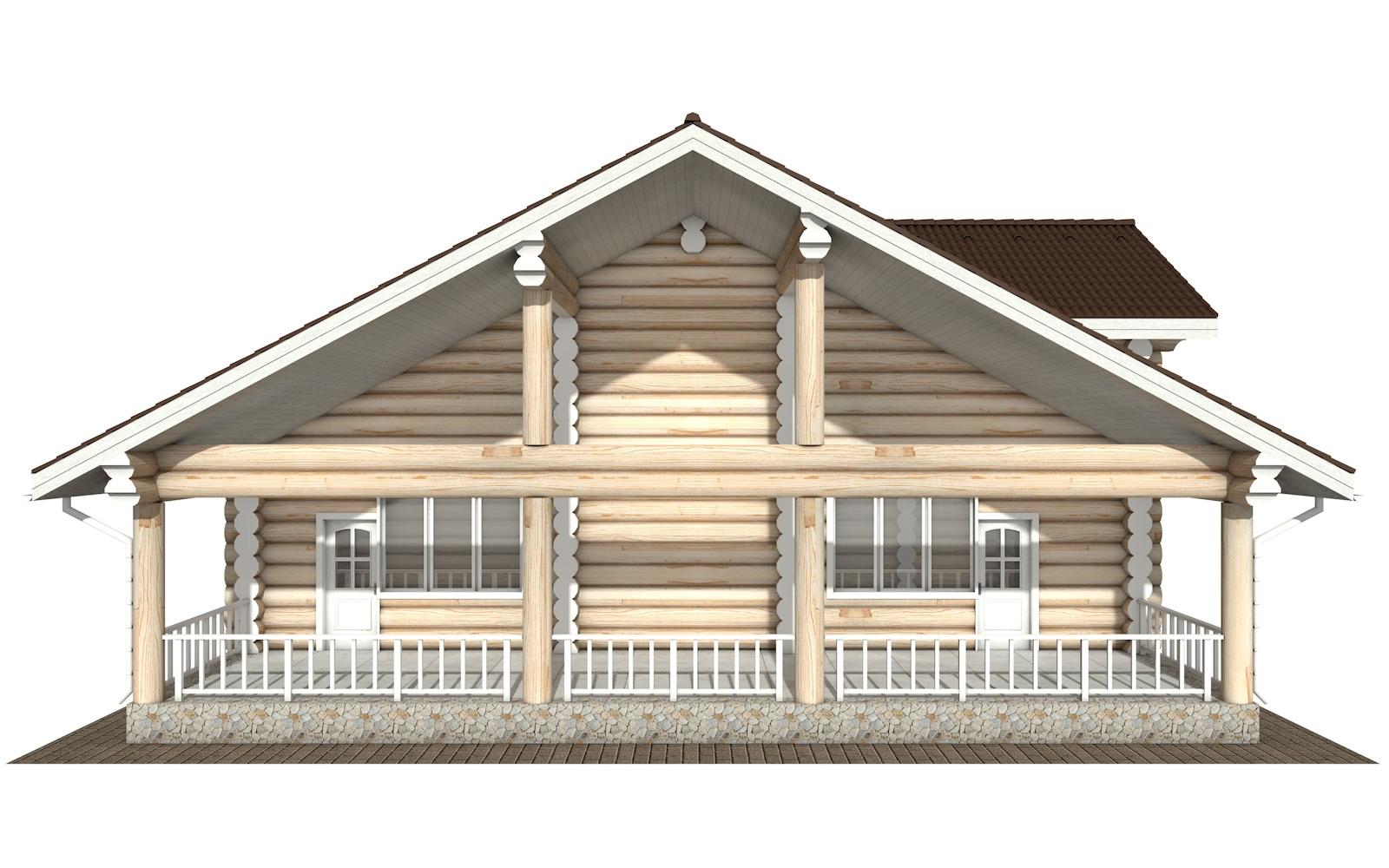 Фото #7: Красивый деревянный дом РС-129 из бревна