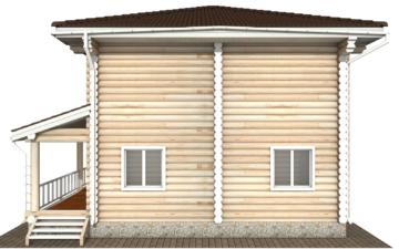 Фото #9: Красивый деревянный дом РС-130 из бревна