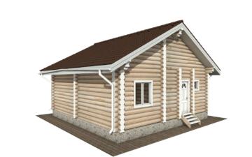 Фото #3: Красивый деревянный дом РС-131 из бревна