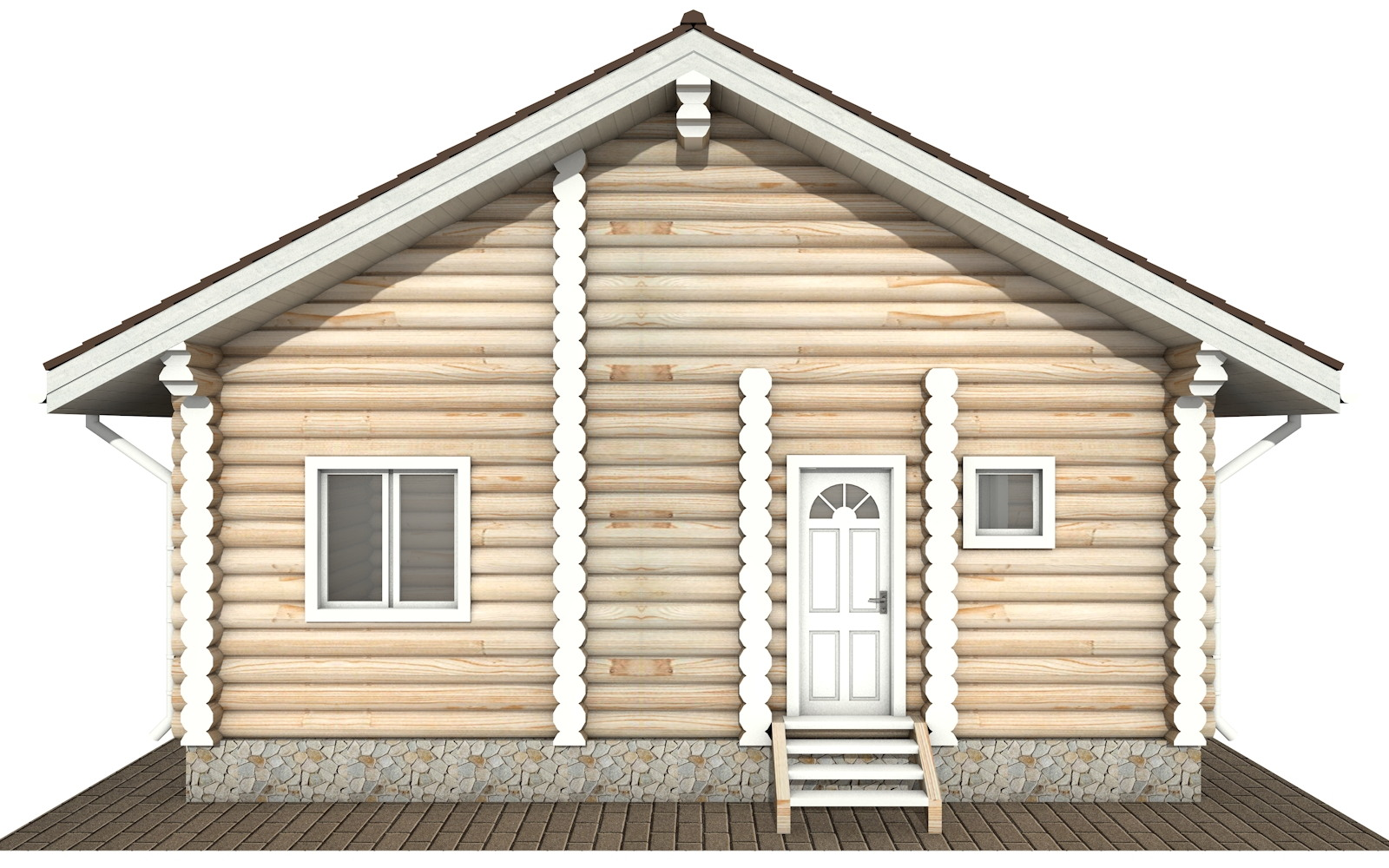 Фото #7: Красивый деревянный дом РС-131 из бревна