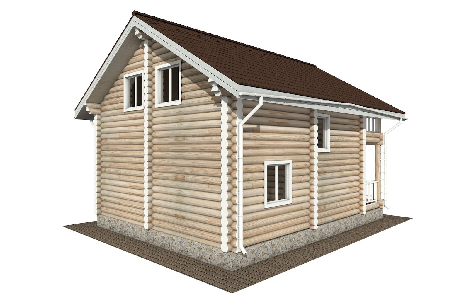 Фото #5: Красивый деревянный дом РС-132 из бревна