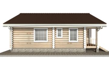 Фото #9: Красивый деревянный дом РС-12 из бревна
