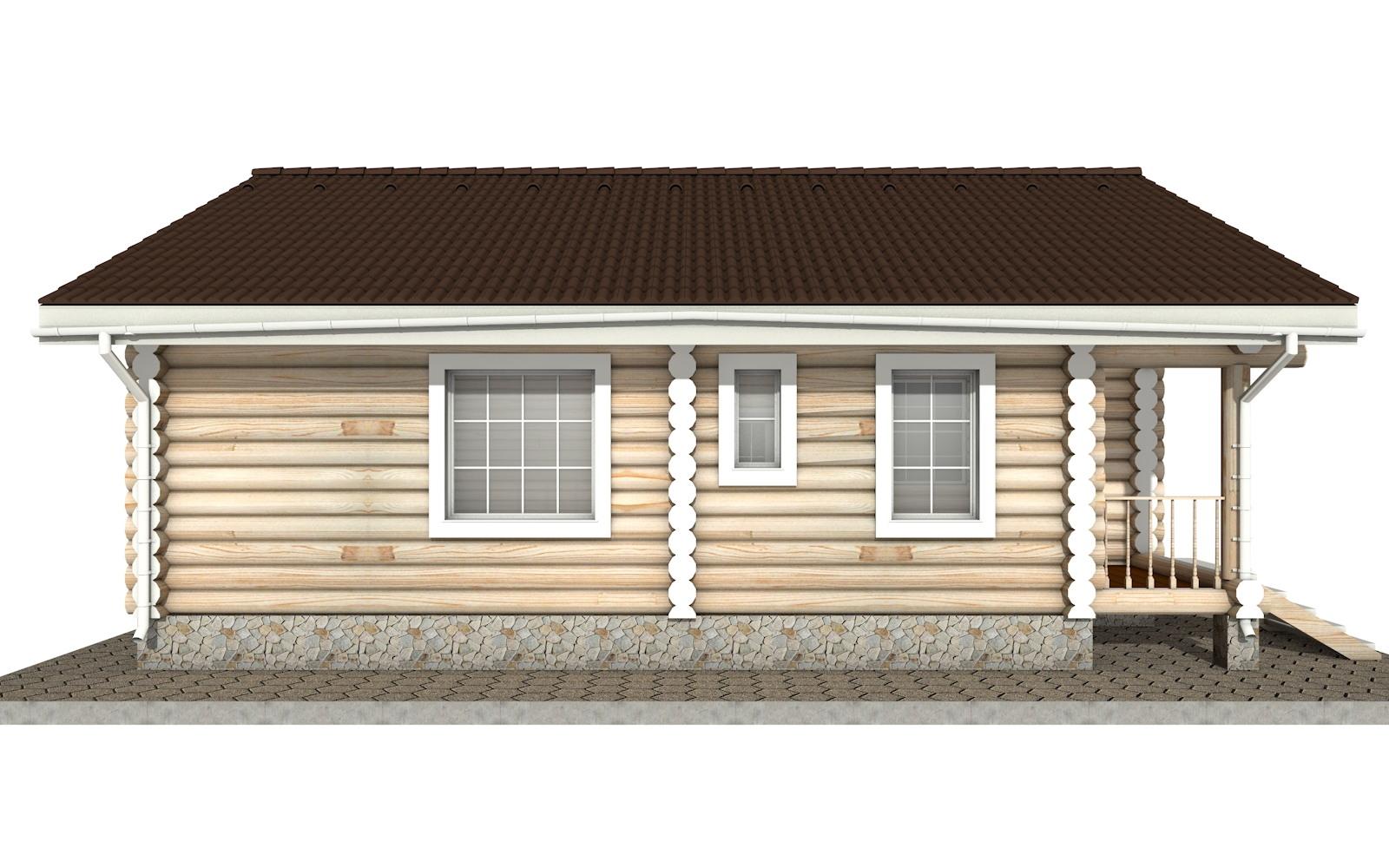 Фото #7: Красивый деревянный дом РС-12 из бревна