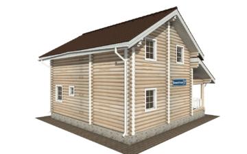 Фото #3: Красивый деревянный дом РС-133 из бревна
