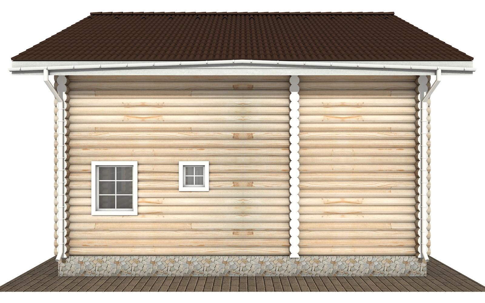 Фото #8: Красивый деревянный дом РС-133 из бревна