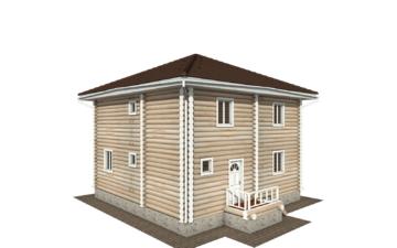 Фото #3: Красивый деревянный дом РС-134 из бревна