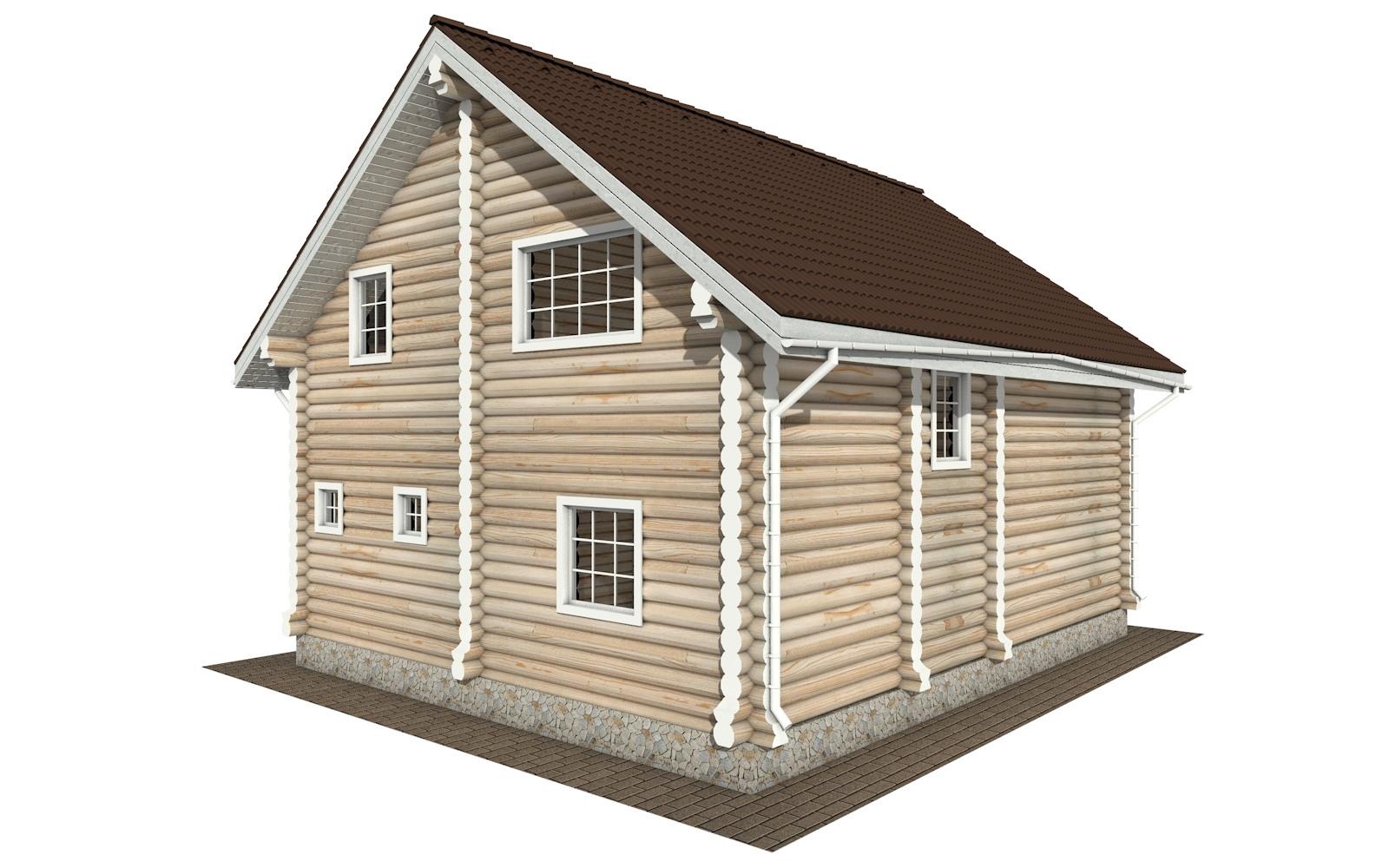 Фото #3: Красивый деревянный дом РС-135 из бревна