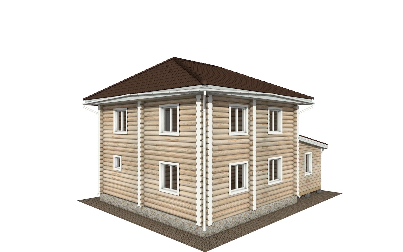 Фото #3: Красивый деревянный дом РС-136 из бревна