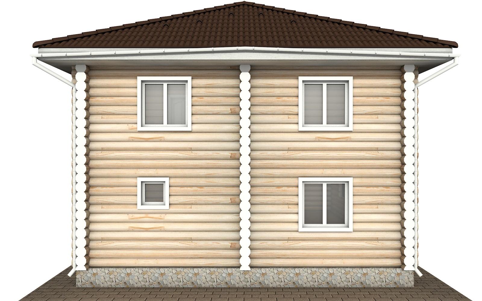 Фото #8: Красивый деревянный дом РС-136 из бревна