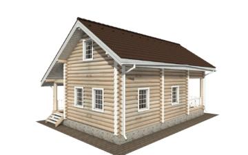Фото #3: Красивый деревянный дом РС-137 из бревна