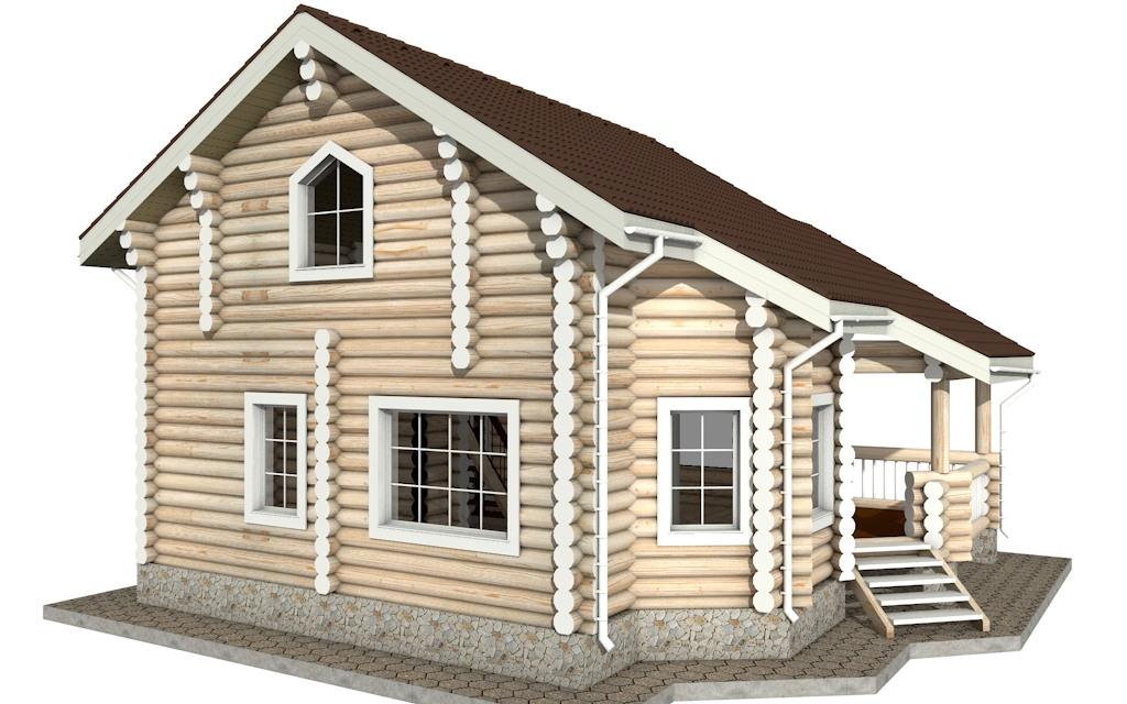 Фото #3: Красивый деревянный дом РС-13 из бревна