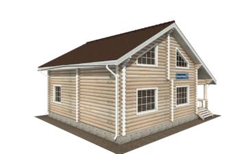 Фото #3: Красивый деревянный дом РС-138 из бревна