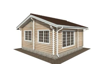 Фото #3: Красивый деревянный дом РС-140 из бревна