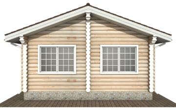 Фото #9: Красивый деревянный дом РС-140 из бревна