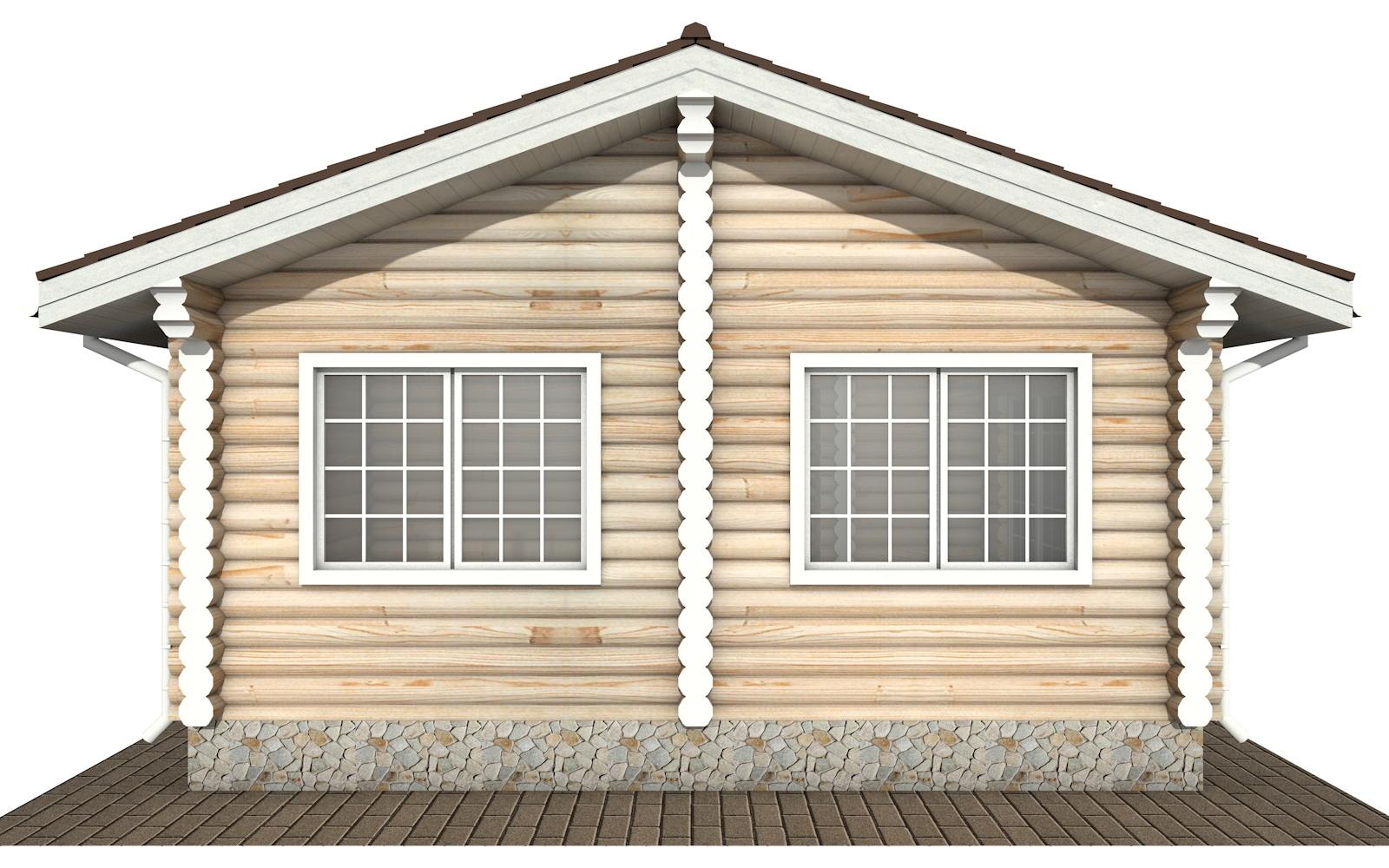 Фото #7: Красивый деревянный дом РС-140 из бревна
